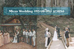 Micro Wedding งานแต่งขนาดเล็ก อบอุ่นเทรนด์ใหม่มาแรง