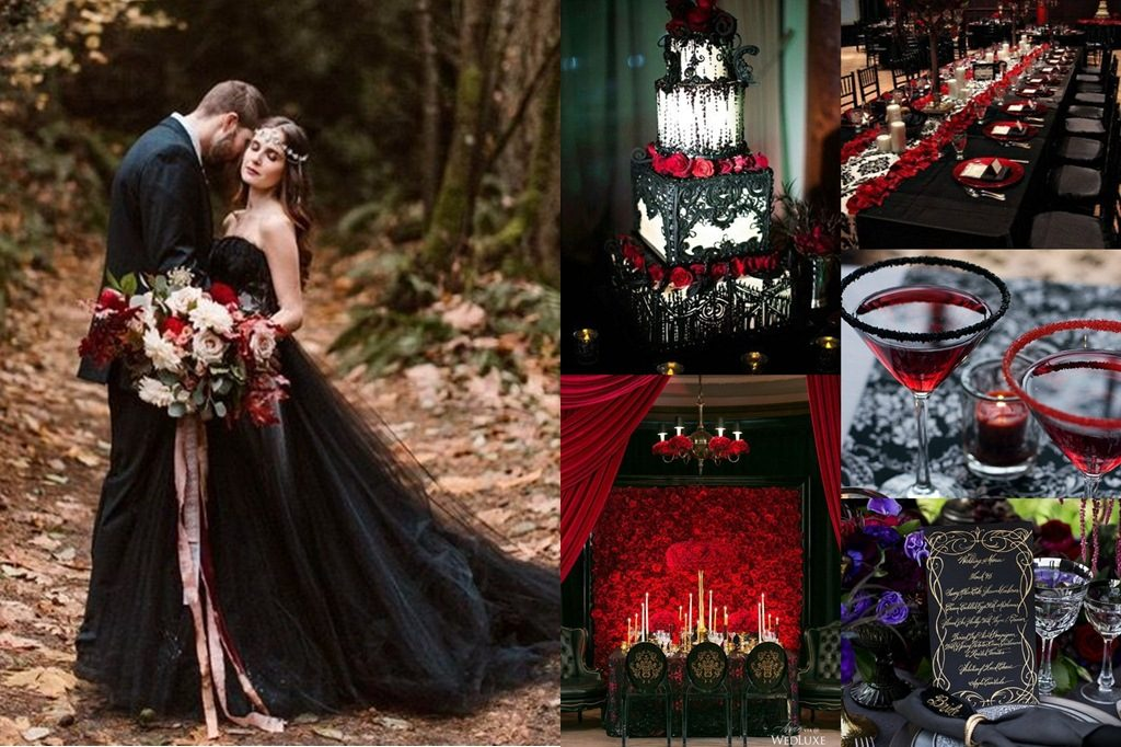 """ธีมแต่งงานสี """"ดำ"""" ความโรแมนติกที่เก๋ไก๋ ซ่อนความหมายแห่งรักนิรันดร์"""